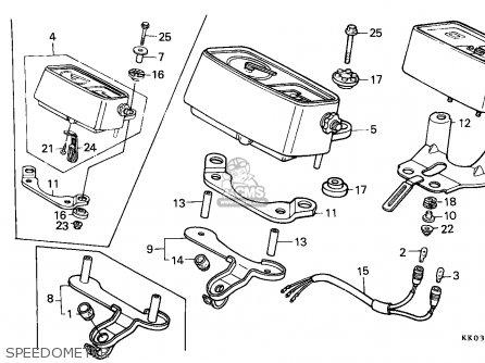 Honda Xr200r 1987 (h) Canada / Cmf parts list partsmanual