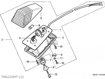 Honda XR200R 1987 (H) CANADA / CMF parts lists and schematics