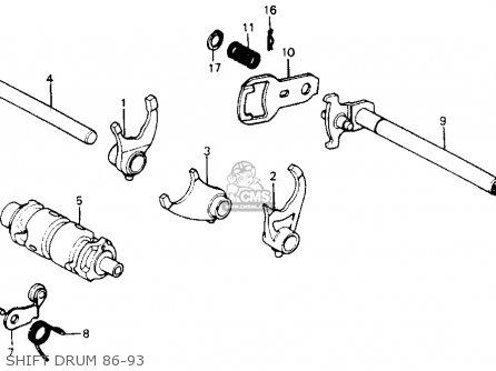 Honda Xr200r 1987 (h) Usa parts list partsmanual partsfiche