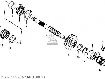 Honda Xr200r 1990 (l) Usa parts list partsmanual partsfiche