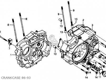 Honda Xr200r 1991 (m) Usa parts list partsmanual partsfiche