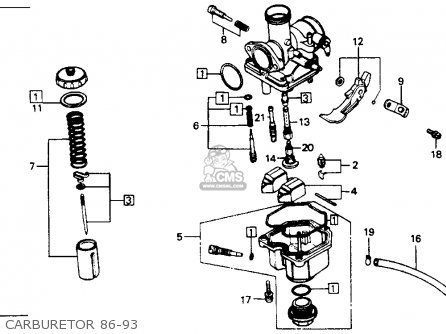 Honda Xr200r 1991 Usa parts list partsmanual partsfiche