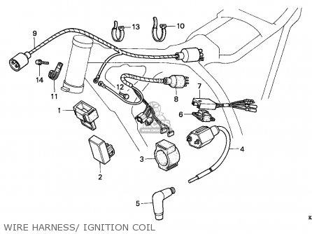 Honda Xr200r 1993 Australia parts list partsmanual partsfiche