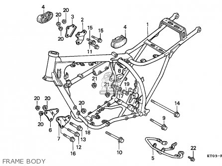 Honda XR200R 1993 (P) AUSTRALIA parts lists and schematics