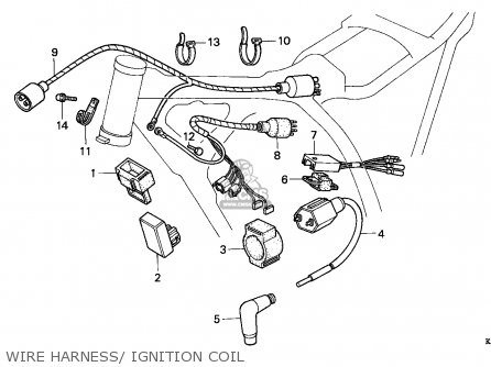 Honda Xr200r 1993 (p) Australia parts list partsmanual