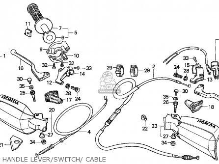 Honda XR200R 1993 (P) GENERAL EXPORT / KPH parts lists and