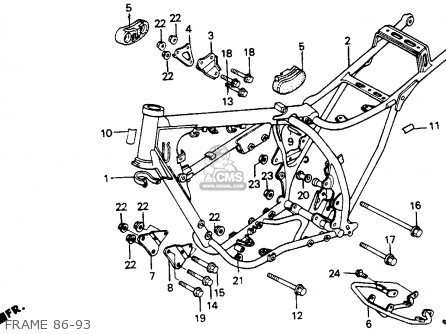 Honda Xr200r 1993 Usa parts list partsmanual partsfiche
