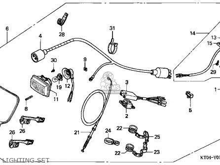 Honda Xr200r 1996 (t) Usa parts list partsmanual partsfiche
