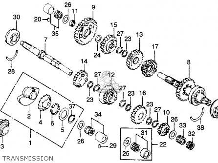Honda Xr250 1979 Usa parts list partsmanual partsfiche