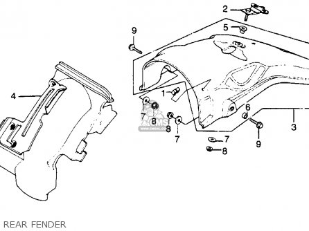 Honda Xr250 1979 (z) Usa parts list partsmanual partsfiche