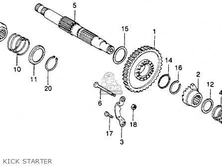 Honda XR250 1980 (A) USA parts lists and schematics