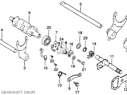 Honda Xr250 1980 Usa parts list partsmanual partsfiche