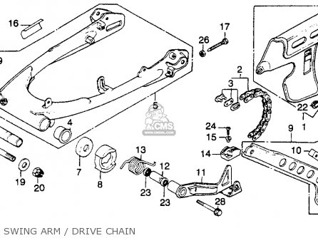 Honda Xr250 1980 Usa parts list partsmanual partsfiche
