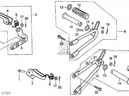 Honda XR250L 1991 (M) USA parts lists and schematics