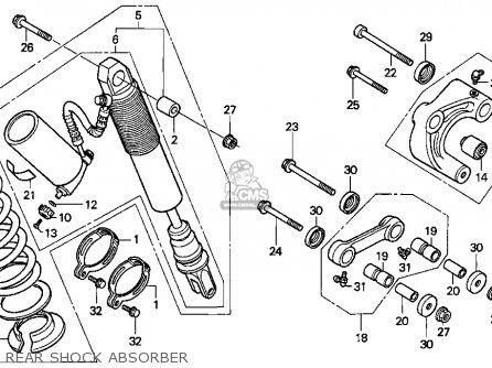 Honda Xr250l 1992 (n) Usa parts list partsmanual partsfiche