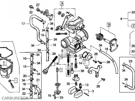 Honda Xr250l 1992 Usa parts list partsmanual partsfiche