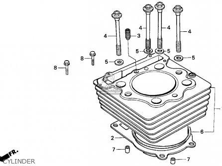 Honda Xr250l 1993 (p) Usa parts list partsmanual partsfiche