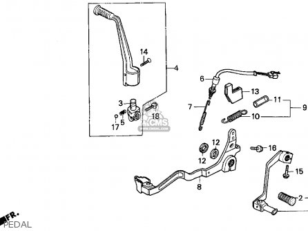 Honda XR250L 1993 (P) USA parts lists and schematics