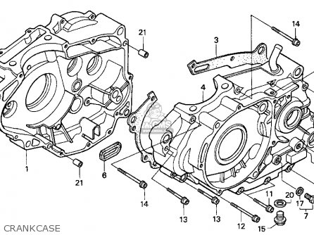 Honda Xr250l 1995 (s) Usa parts list partsmanual partsfiche