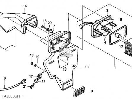Honda Xr250l 1995 (s) Usa parts list partsmanual partsfiche