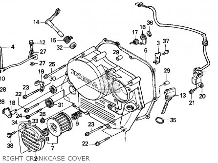 Honda Xr250l 1995 Usa parts list partsmanual partsfiche