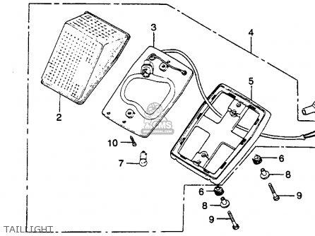 Honda Xr250r 1981 (b) Usa parts list partsmanual partsfiche
