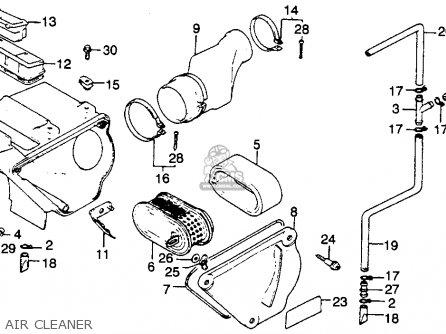 Honda Xr250r 1981 Usa parts list partsmanual partsfiche