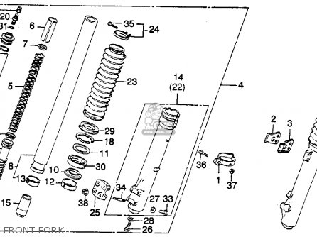 Honda Xr250r 1982 (c) Usa parts list partsmanual partsfiche