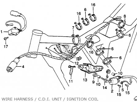 Honda Xr250r 1982 Usa parts list partsmanual partsfiche