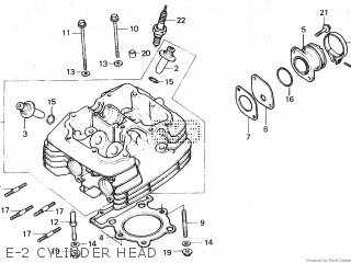 Honda XR250R 1983 (D) parts lists and schematics