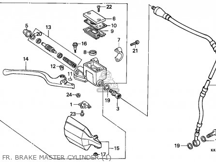 Honda XR250R 1984 (E) AUSTRALIA parts lists and schematics