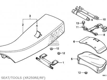 Honda XR250R 1984 (E) AUSTRALIA parts lists and schematics