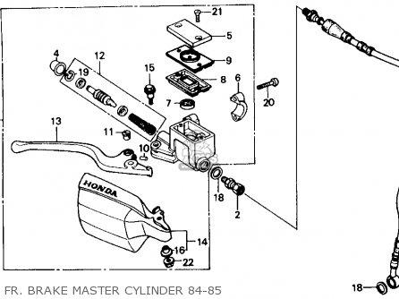 Honda XR250R 1984 (E) USA parts lists and schematics