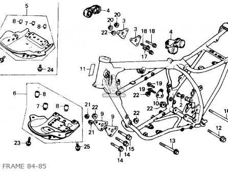 Honda XR250R 1984 (E) USA parts lists and schematics