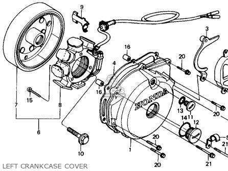 Honda Xr250r 1984 (e) Usa parts list partsmanual partsfiche