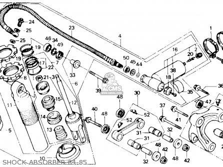 Honda Xr250r 1984 (e) Usa parts list partsmanual partsfiche