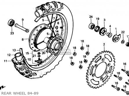 Honda Xr250r 1984 Usa parts list partsmanual partsfiche