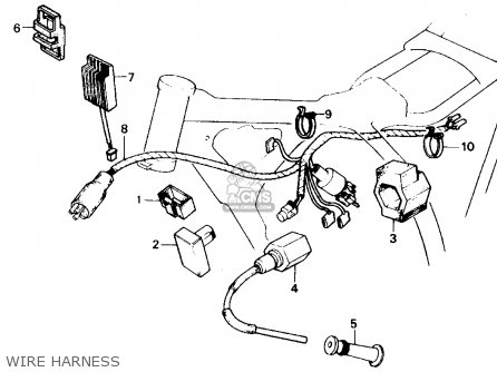 Honda Xr250r 1984 Usa parts list partsmanual partsfiche