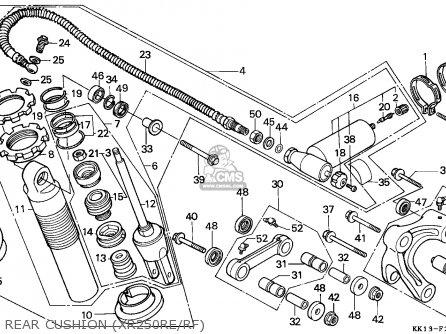 Honda Xr250r 1985 Australia parts list partsmanual partsfiche