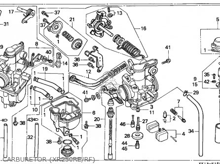 Honda Xr250r 1985 European Direct Sales parts list