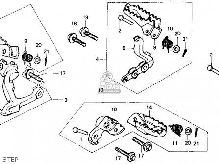 Honda XR250R 1985 (F) USA parts lists and schematics