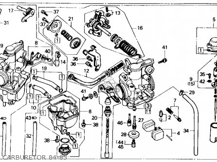 Honda Xr250r 1985 Usa parts list partsmanual partsfiche