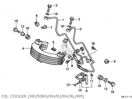 Honda Xr250r 1986 (g) Australia parts list partsmanual