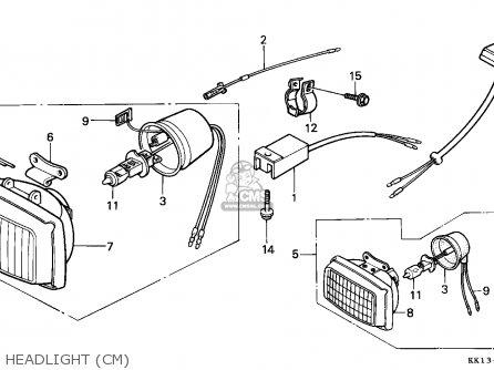 Honda XR250R 1986 (G) CANADA / CMF parts lists and schematics
