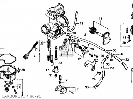 Honda XR250R 1986 (G) USA parts lists and schematics