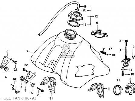 Honda Xr250r 1986 (g) Usa parts list partsmanual partsfiche