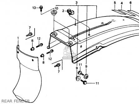Honda XR250R 1986 (G) USA parts lists and schematics