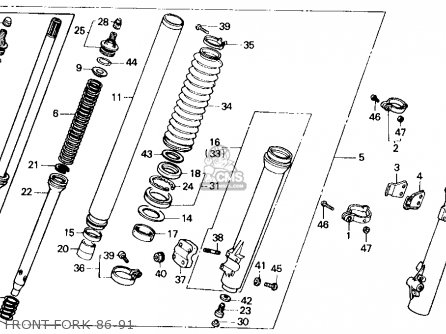 Honda Xr250r 1986 Usa parts list partsmanual partsfiche