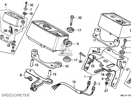 Honda Xr250r 1987 (h) Belgium / Cmf parts list partsmanual