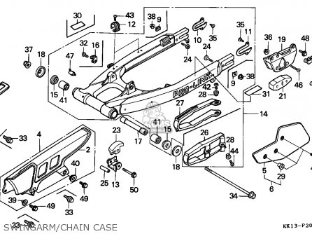 Honda XR250R 1987 (H) BELGIUM / CMF parts lists and schematics